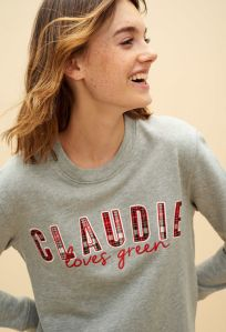 Sweat-gris-serigraphie-eco-friendly-Claudie-Pierlot-Charonbellis