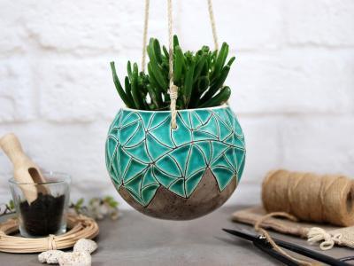 Jardiniere-suspendue-ceramique-10fingersArt-Etsy-Charonbellis
