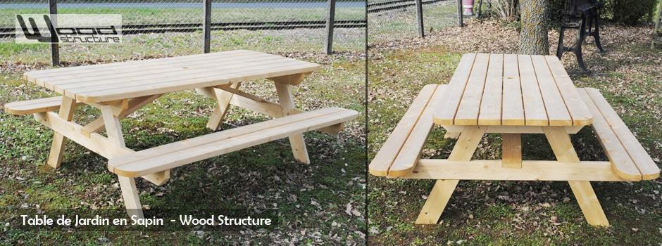 Plan Table De Jardin En Bois L | Moregs