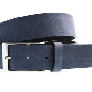 Italiaans luxe rundleren jeans riem, E016 Blauw