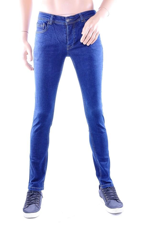 Enos Jeans trendy slim fit heren skinny jeans, E926 Donkerblauw