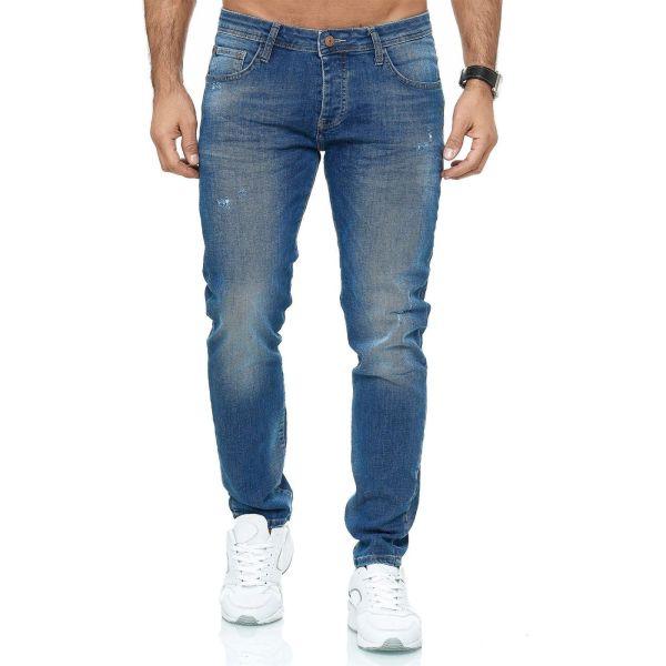 Red Bridge trendy gescheurde slim fit heren jeans, R251 Blauw