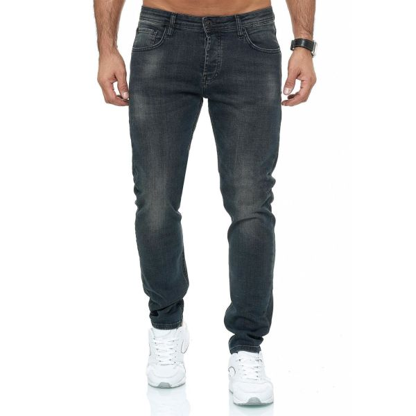 Red Bridge trendy gewassen slim fit heren stretch jeans, R248 Antraciet