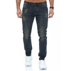 Red Bridge trendy gewassen slim fit heren stretch jeans, R248 Antraciet