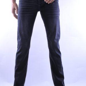 Jaylvis trendy slim fit heren jeans met contrast kleur stiksels, J279 Zwart