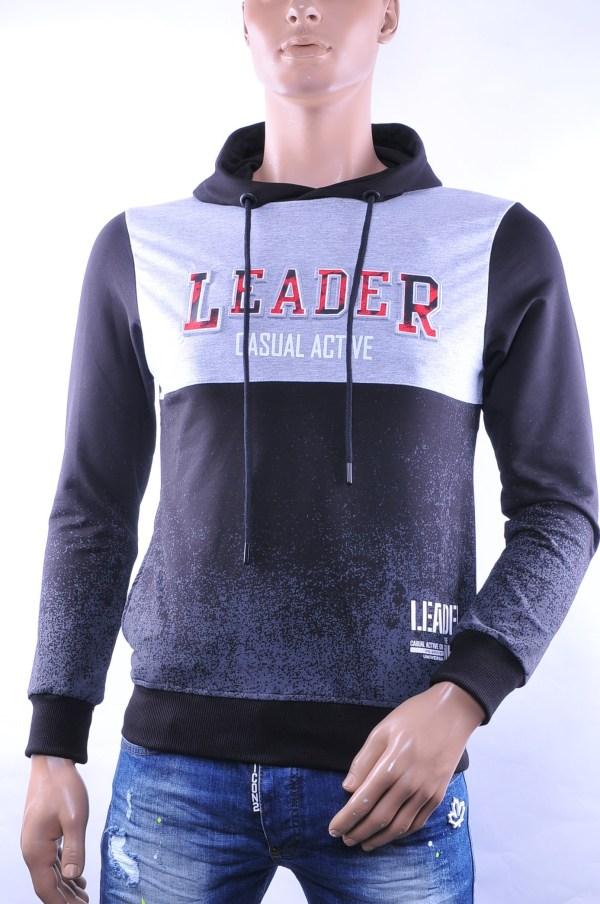 Ci-Borg trendy heren sweatshirt met capuchon, C761 Grijs
