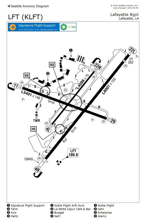 small resolution of seattle avionics airport guide edit fbo lft airport diagram