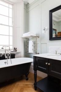 freestanding bath in traditional bathroom