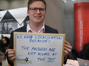 We need localisation because the answere=s are not always at the top! Tim Ingram, Tearfund, Bond Conference UK