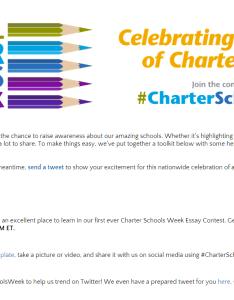 Charterschoolsweek also essay contest opportunity for grades deadline may rh columbuscharterschool