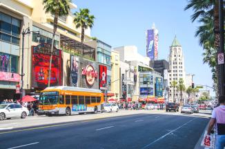 Los Angeles Hollywood street.
