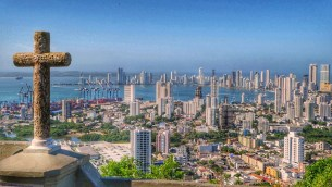 Cartagena's coastal view.