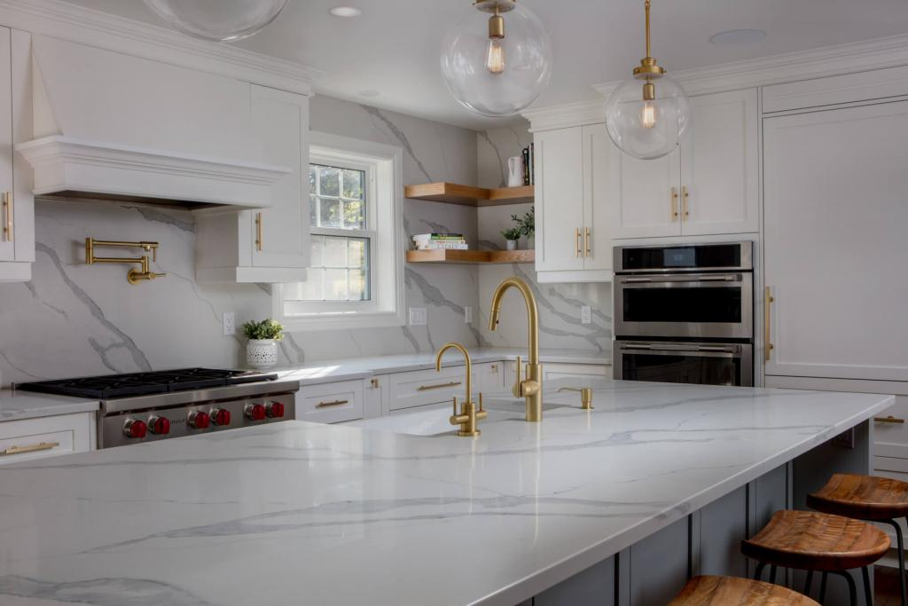 renovated kitchen buffet and hutch renovations white modern with gold faucet for from chart