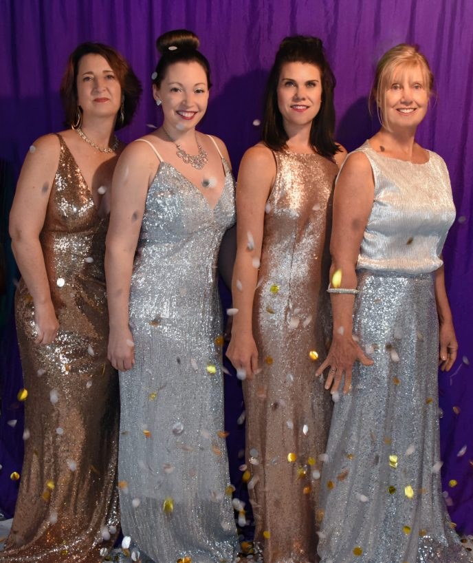 New Year's Eve Women in Sequin Dresses