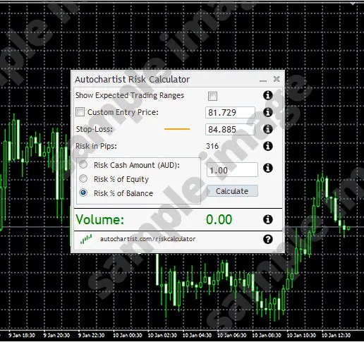 Autochartist Subscriptions for FX Traders Risk Calculator
