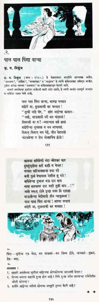 Ghal Ghal Pinga Varya - घाल घाल पिंगा वाऱ्या - Balbharati Poem Songs