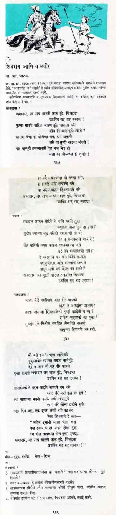 Khabardar Jar Taach Maruni - खबरदार जर टाच मारुनी- Balbharati Poem Songs