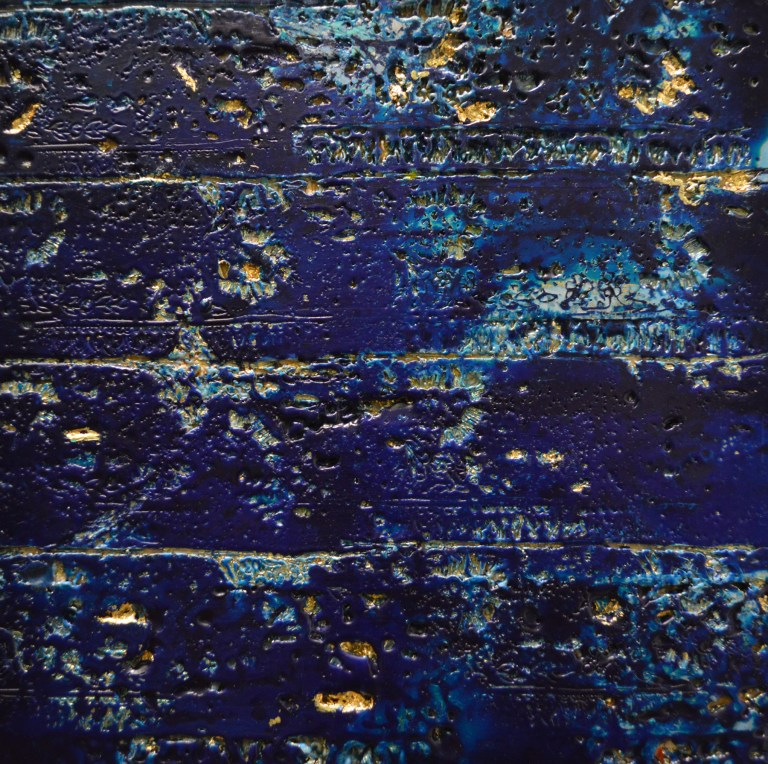Nocturne is a deep blue and gold pieces inspired by the night.