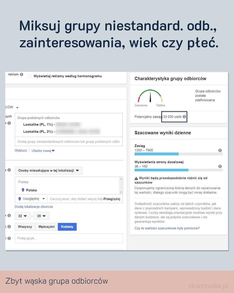 Jak zoptymalizować reklamy na Facebooku? Pkt 6
