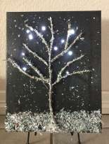 Winter Light Up Canvas Art
