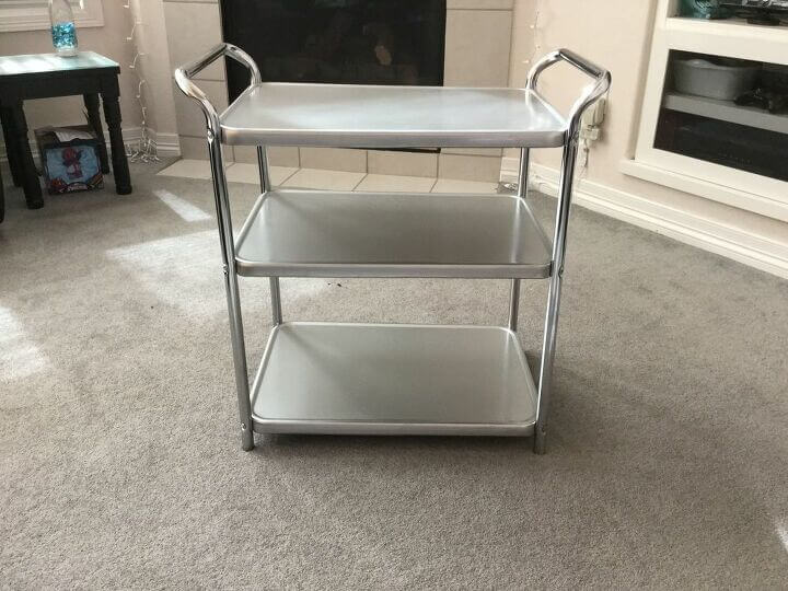 Upcycled 3 Tiered Serving Cart by Chas' Crazy Creations