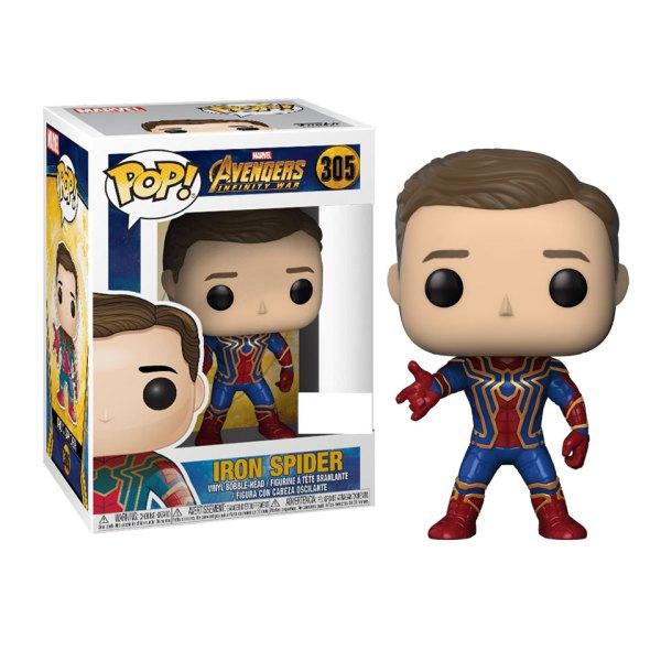 Funko Pop van Iron Spider (unmasked) uit Avengers 305