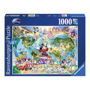 1000stks Puzzel van de Wereldkaart van Disney.