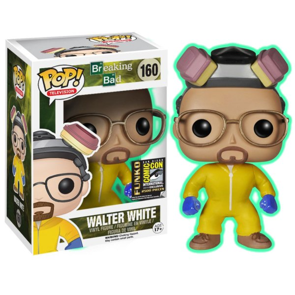 Funko Pop van Walter White GLOW IN THE DARK uit Breaking Bad 160