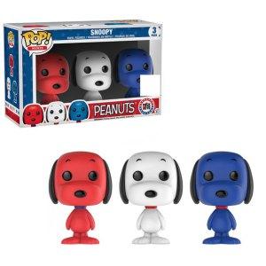 Funko Pop Mini 3-Pack van Snoopy uit Peanuts