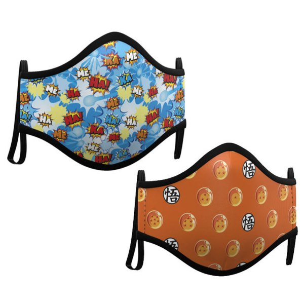 Gezichtsmasker 2-Pack van Dragon Ball Facemask