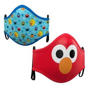 Gezichtsmasker 2-Pack van Sesamstraat Facemask