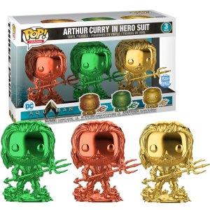 Funko Pop 3-Pack van Arthur Curry in hero Suit uit Aquaman