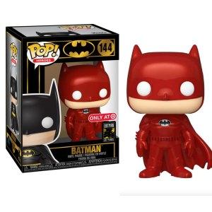 Funko Pop van Batman (Red Metallic) uit Batman 144