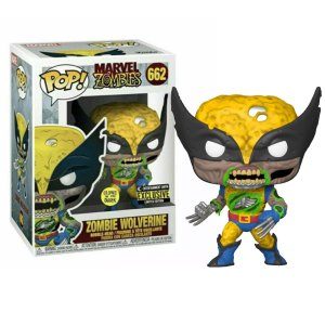 Funko Pop van Zombie Wolverine GITD uit Marvel Zombies 662
