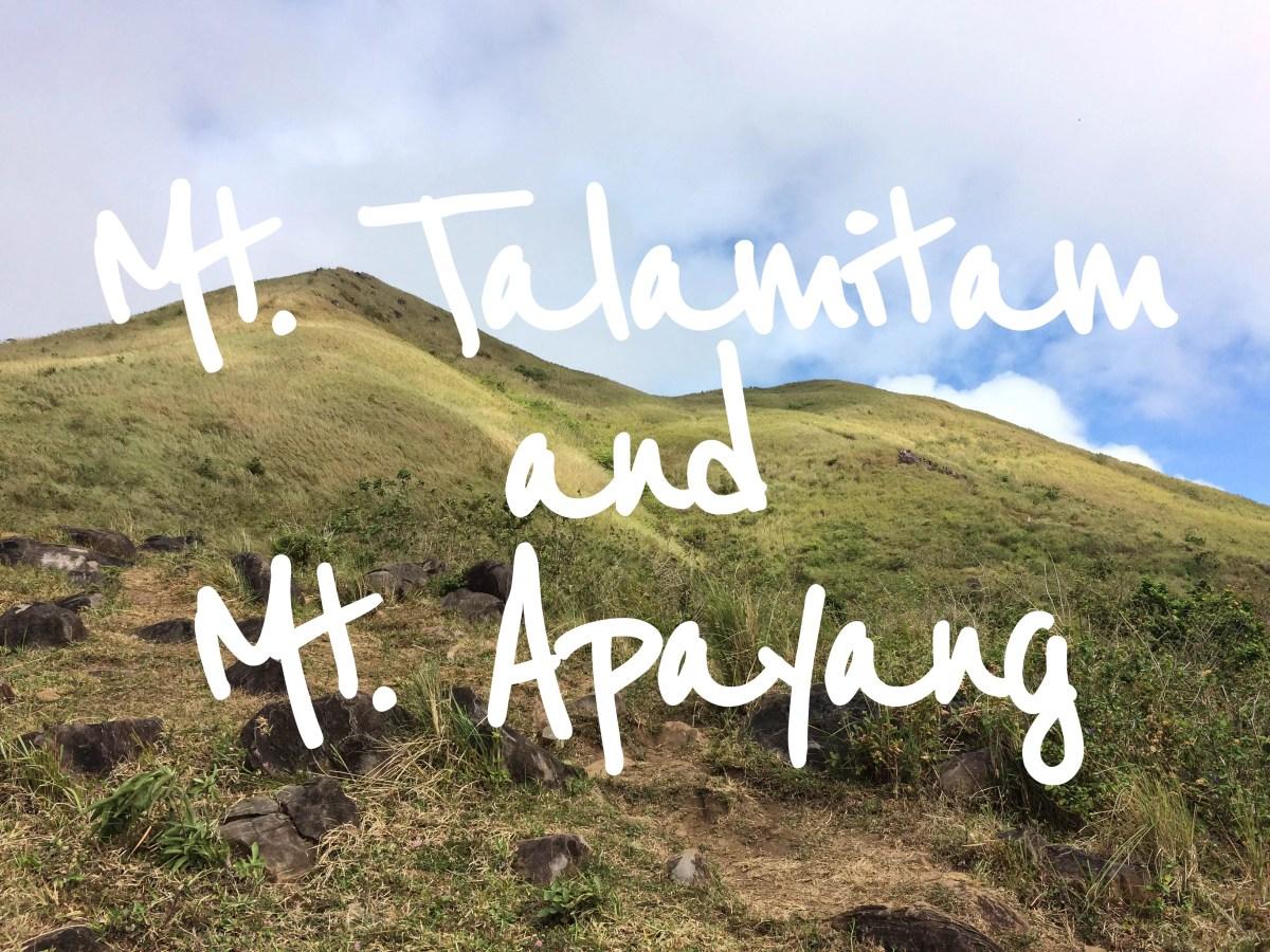 Mt. Talamitam & Apayang - Nasugbu, Batangas (Climb Guide)