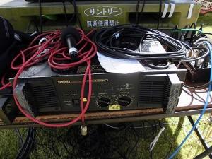 六呂師高原アルプス音楽祭2014 YAMAHA P2360とSHURE SM58とマルチケーブルボックス/どこまでもアマチュア