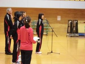 はつらつママさんバレーボールin大野 江上 由美氏のあいさつ/どこまでもアマチュア