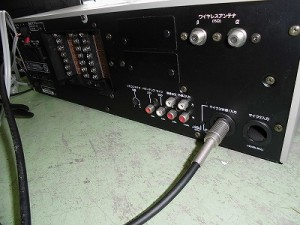 さかだに雪まつり Victor 業務用 システムアンプ PA-708 04078裏面のLINE OUT端子/どこまでもアマチュア