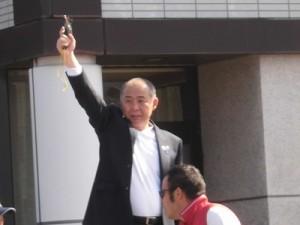 第51回越前大野名水マラソン スターター 大野市長 岡田 高大氏/どこまでもアマチュア