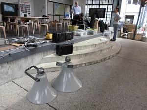 第51回越前大野名水マラソン PA(音響)機材の片付け作業/どこまでもアマチュア
