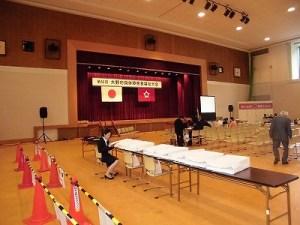 第30回大野市福祉ふれあいまつり 多目的ホール準備状況/どこまでもアマチュア