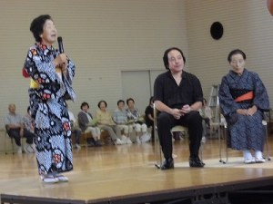 結の故郷・里芋音頭 踊り大会 & 清水ゆう・ハーバーライツオーケストラコンサート 羽生 洋子氏挨拶/どこまでもアマチュア