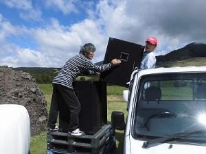 六呂師高原アルプス音楽祭2015 メインスピーカー搬入/どこまでもアマチュア