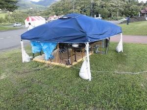 六呂師高原アルプス音楽祭2015 PAブースのテント/どこまでもアマチュア