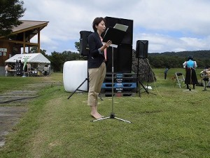 六呂師高原アルプス音楽祭2015 みのわ かよ氏/どこまでもアマチュア