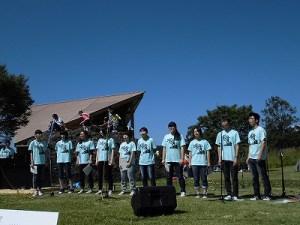 六呂師高原アルプス音楽祭2015 大野高校合唱部 大野高校合唱部のさわやかなステージ/どこまでもアマチュア
