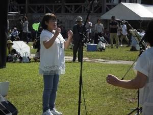 六呂師高原アルプス音楽祭2015 ゴスペル・ウィンディ・フレンズの南部 比登美氏/どこまでもアマチュア