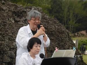 六呂師高原アルプス音楽祭2015 One Dayのヴォイスパーカッションとキーボードの2人/どこまでもアマチュア