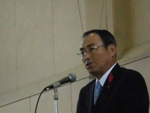平成27年度下庄地区敬老会 福井県議会議員 山岸 猛夫氏/どこまでもアマチュア