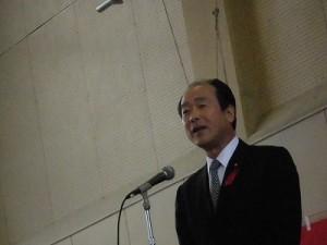 平成27年度下庄地区敬老会 大野市議会議長 高岡 和行氏/どこまでもアマチュア
